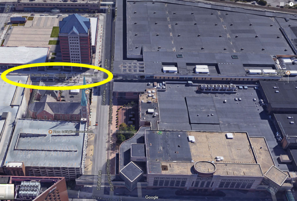 Circled location in image is the area we'll be meeting in.
